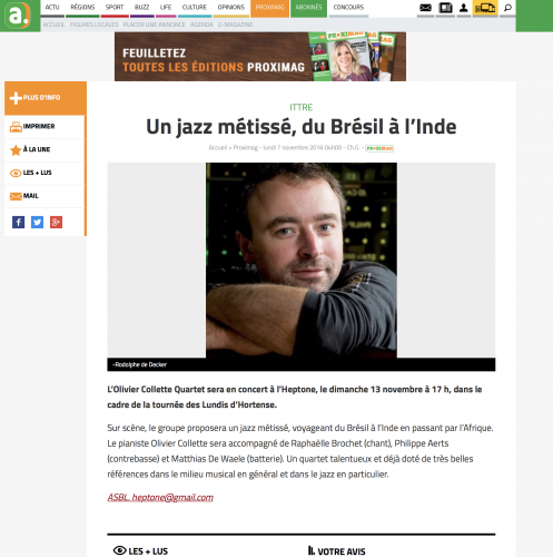 Editions L'Avenir - 7 novembre 2016